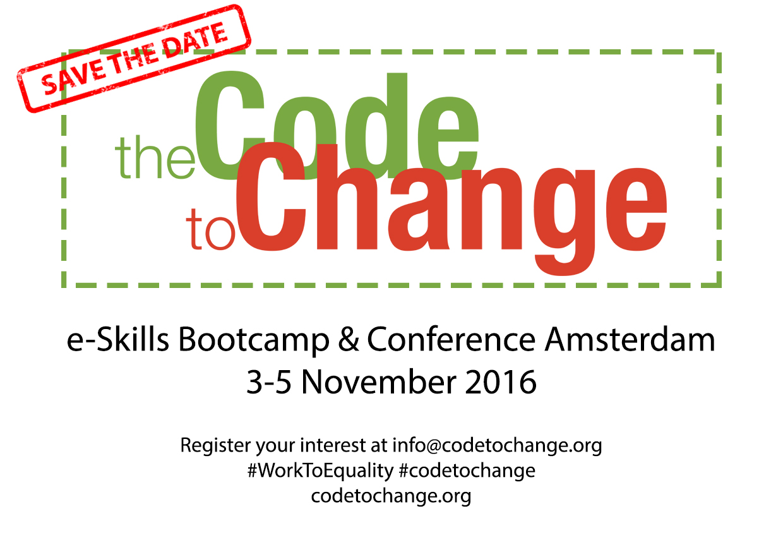 Code To Change 2016 Postcard